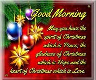 Christmas Good Morning
