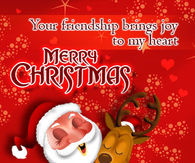 Your friendship brings joy to my heart Merry Christmas