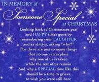 In Memory of someone special at Christmas