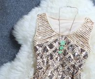 Elegant and Chic Sequined Party Dress