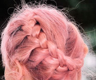 Pink braid wrap