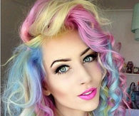 Colorful pastel curls