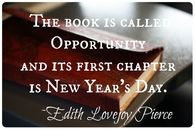This book is called opportunity and it's first chapter is New Year's Day