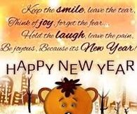 Keep the smile, leave the tear...Happy New Year