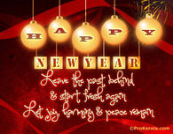Leave the past behind and start fresh again...Happy New Year