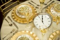 Gold New Years Eve Tablescape