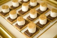 Holiday S'mores Dipped in Gold Sprinkles
