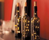 Wine Bottle Lights for New Years Eve