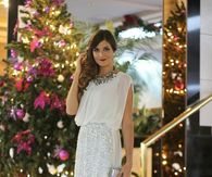 White Glitter Skirt & Top