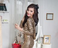 Sparkling Gold Glitter Dress