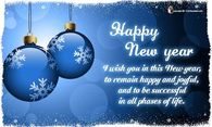 I wish you in this New Year to remain happy and joyful...