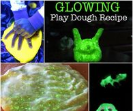 How to make glow in the dark play dough