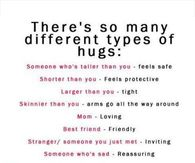 Theres so many different types of hugs