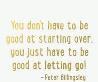 Be good at letting it go