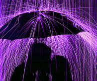 A kiss under Purple Rain