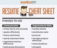 Resume Cheat Sheet  Resume Cheat Sheet