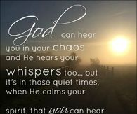 God can hear you