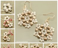 How to make beaded snowflake earrings