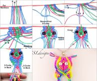 How to make a rainbow macrame owl pendant