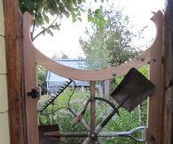 Garden Tools Used as Garden Gate