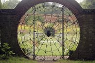 Spiderweb Garden Gate