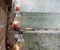 Mason Jar Step Lanterns