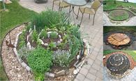 How to make a diy herb spiral garden