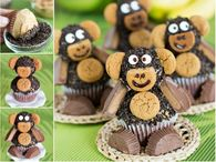 How to peanut butter monkey cupcakes