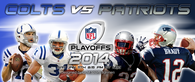 Colts vs Patriots divisional playoffs game