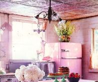 Rustic Pink Kitchen