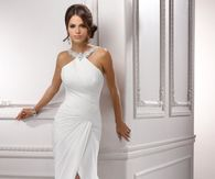 Stunning Satin White Wedding Dress