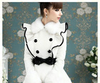 Princess Falbalas Collar Piping Winter Coat