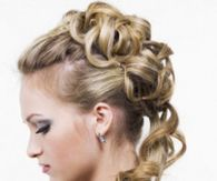 Spiral Half Updo Wedding Hairstyle