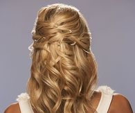 Long Waves with Sides in Updo Twist Wedding Hairstyle