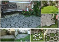 How to make cement cobblestone path