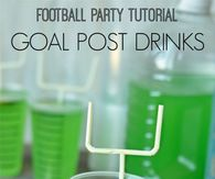 Football Party Goal Post Drinks