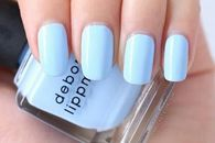 Powder blue nails