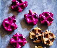 How to make blueberry waffle cookies