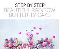 DIY Butterfly Rainbow Cake