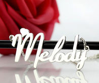 Fiolex Girls Fonts Heart Name Necklace