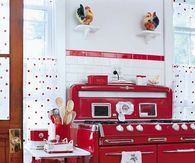 Red Replica of 1950's Stove