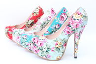 Pretty Pastel Floral Pumps