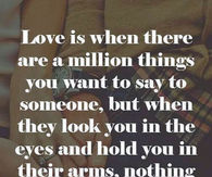 Love is when