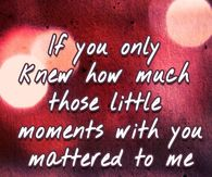 If only you knew