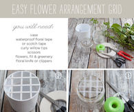 DIY Floral Arrangement Grid