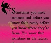 Sometimes you just know