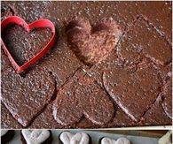 Heart-Shaped Chocolate Raspberry Cakes