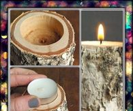 Old Log Candle