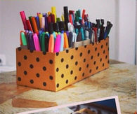 Shoe Box Paper Roll Organizer