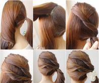 How to make a twisted side ponytail